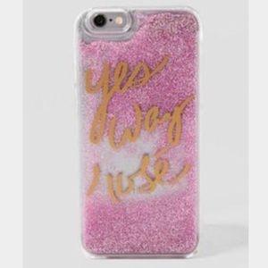 Francesca's Iphone 6 Glitter Phone case